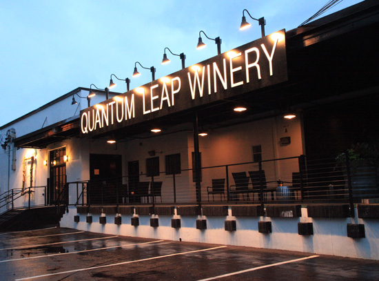 Outside view of quantum leap winery